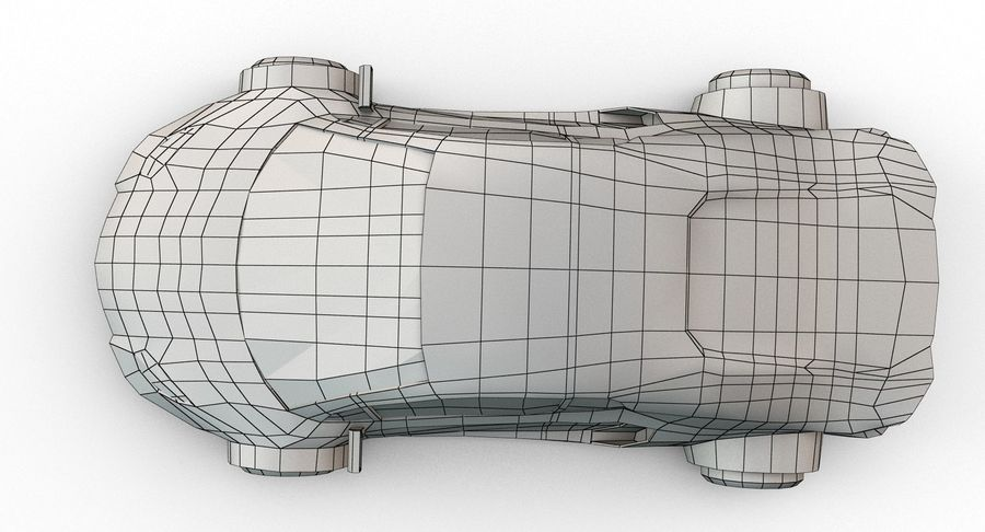 Cartoon Sport Car v.1 royalty-free 3d model - Preview no. 23