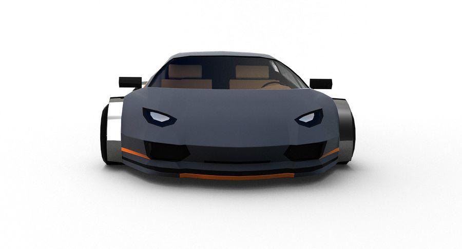 Cartoon Sport Car royalty-free 3d model - Preview no. 10