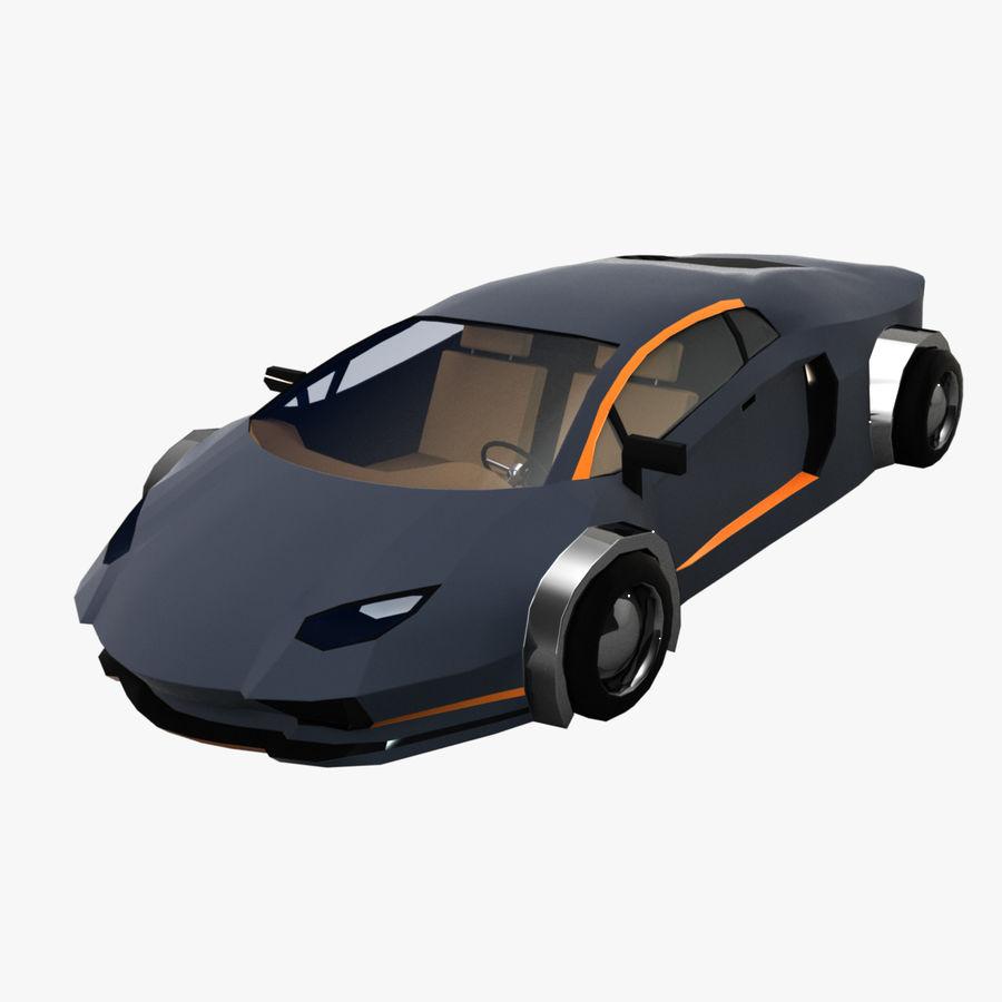 Cartoon Sport Car royalty-free 3d model - Preview no. 1