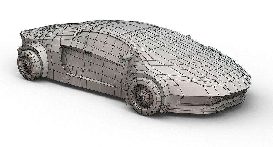 Cartoon Sport Car royalty-free 3d model - Preview no. 19