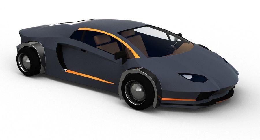 Cartoon Sport Car royalty-free 3d model - Preview no. 8