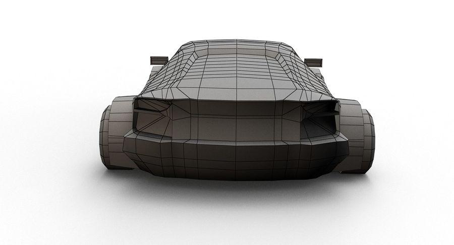 Cartoon Sport Car royalty-free 3d model - Preview no. 17