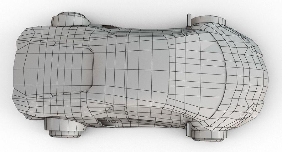 Cartoon Sport Car royalty-free 3d model - Preview no. 22