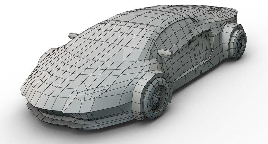Cartoon Sport Car royalty-free 3d model - Preview no. 13