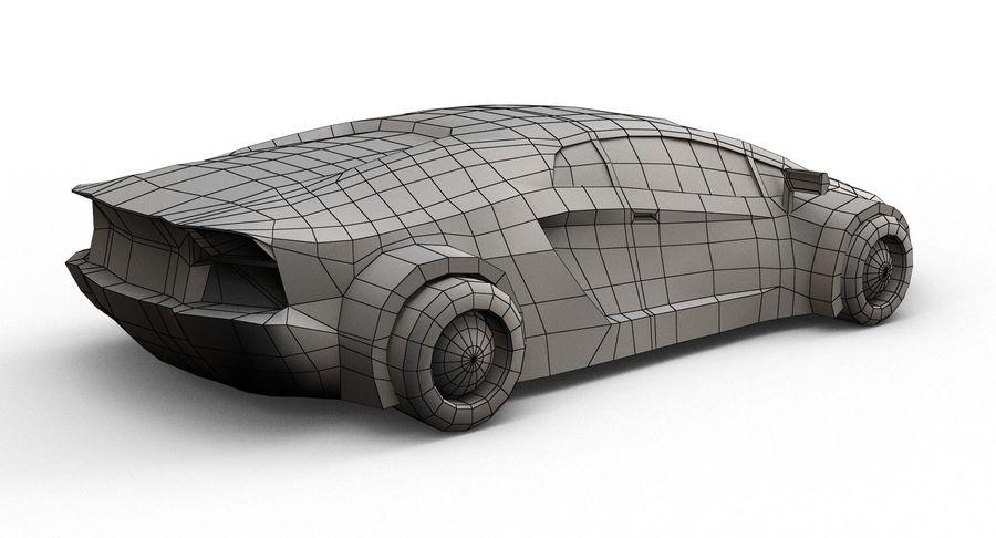 Cartoon Sport Car royalty-free 3d model - Preview no. 18