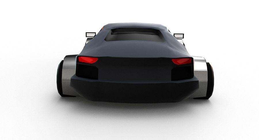 Cartoon Sport Car royalty-free 3d model - Preview no. 6