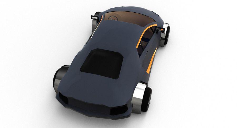 Cartoon Sport Car royalty-free 3d model - Preview no. 12