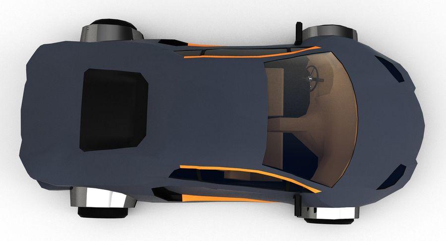 Cartoon Sport Car royalty-free 3d model - Preview no. 11