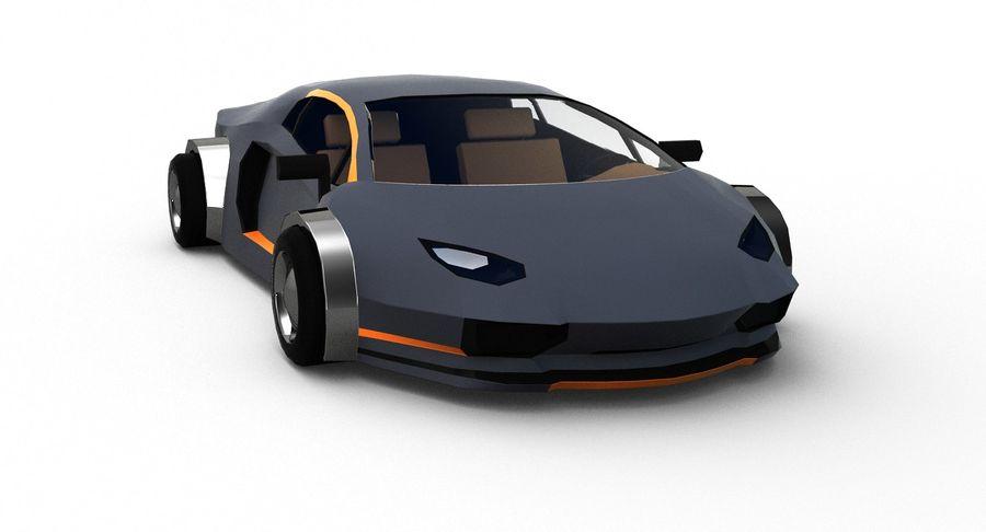 Cartoon Sport Car royalty-free 3d model - Preview no. 9