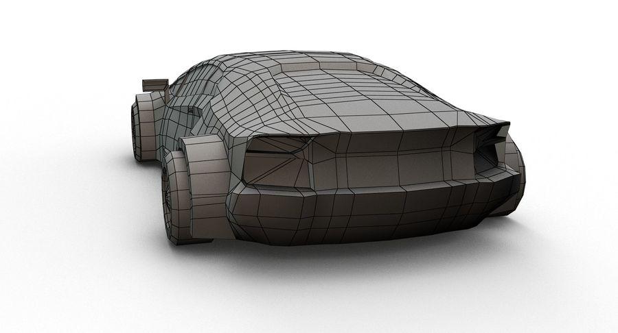 Cartoon Sport Car royalty-free 3d model - Preview no. 16