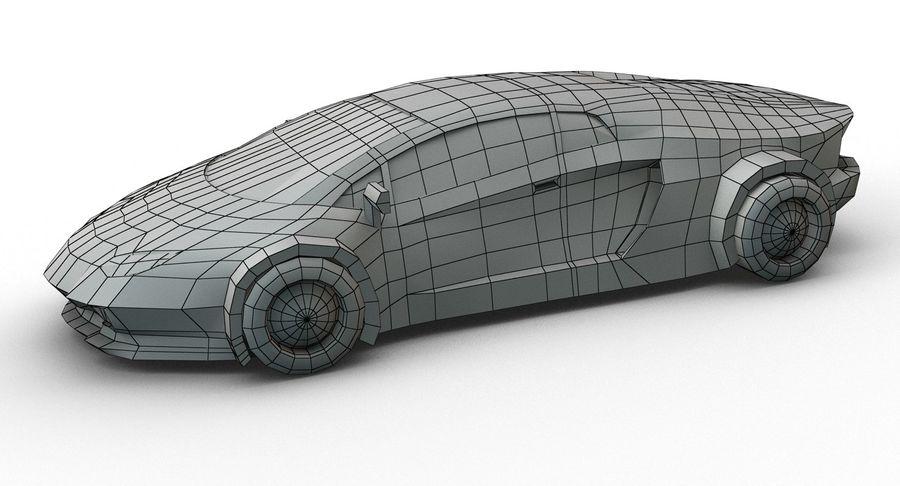 Cartoon Sport Car royalty-free 3d model - Preview no. 14