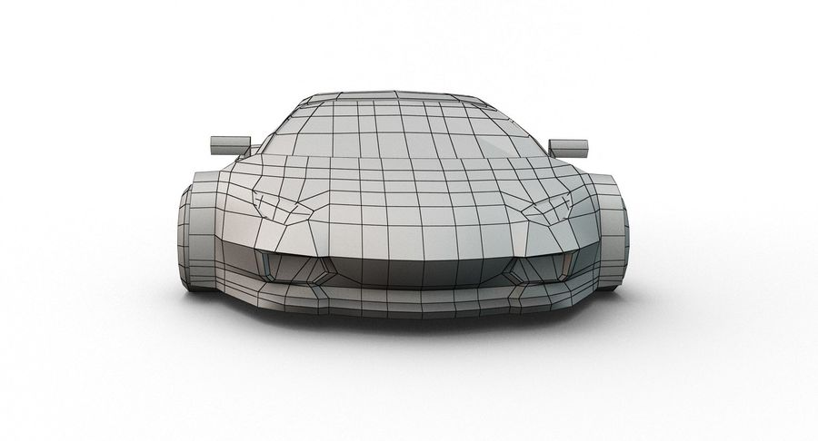 Cartoon Sport Car royalty-free 3d model - Preview no. 21