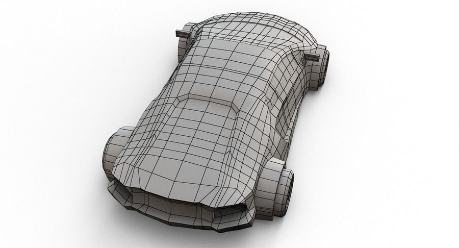 Cartoon Sport Car royalty-free 3d model - Preview no. 23