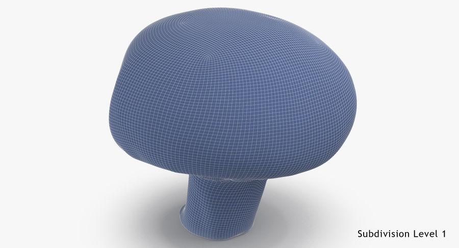 Paddestoel met witte knop 04 royalty-free 3d model - Preview no. 10