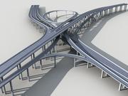 Estakada wiaduktu autostrady Model 3D-2 Model 3D 3d model