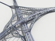 Highway Viaduct flyover 3D model-3 3D model 3d model