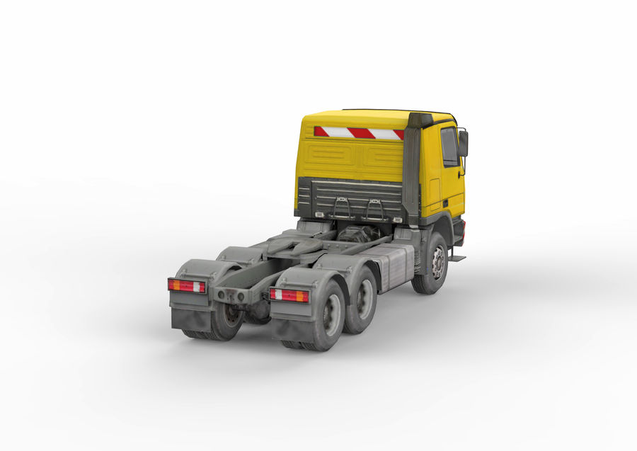 Camion lourd jaune royalty-free 3d model - Preview no. 6