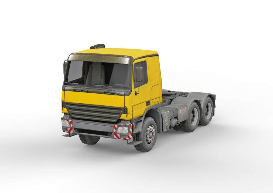 Camion lourd jaune royalty-free 3d model - Preview no. 1