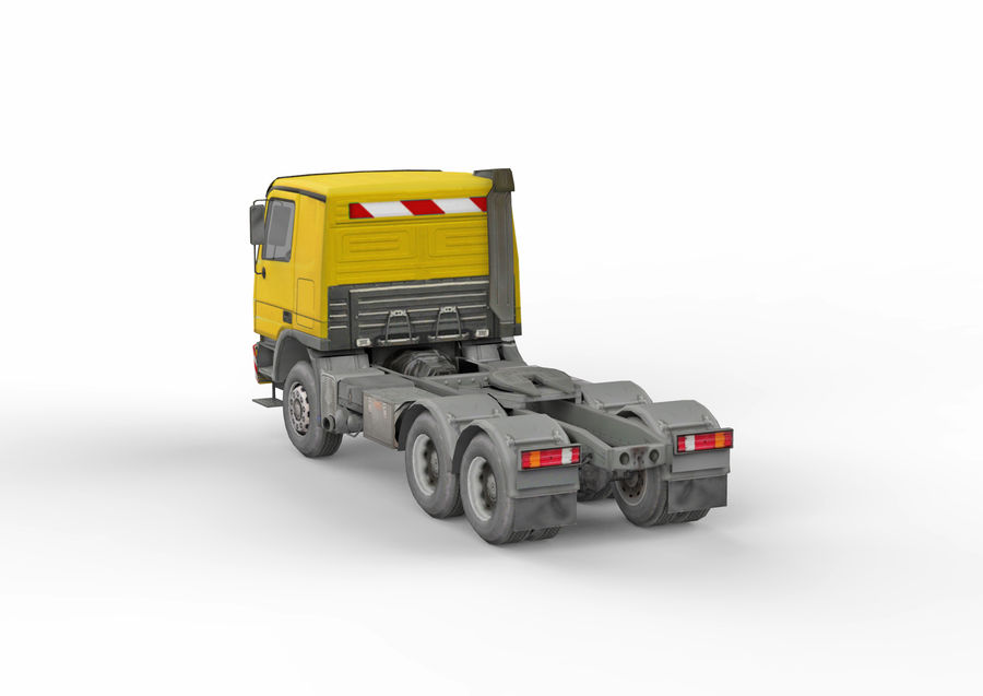 Camion lourd jaune royalty-free 3d model - Preview no. 5