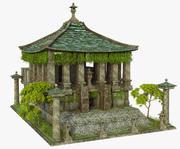 Rovine perdute del tempio asiatico 3d model