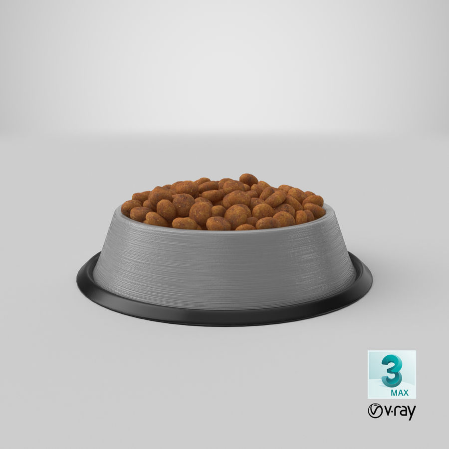 Bowl of Dog Food royalty-free 3d model - Preview no. 26