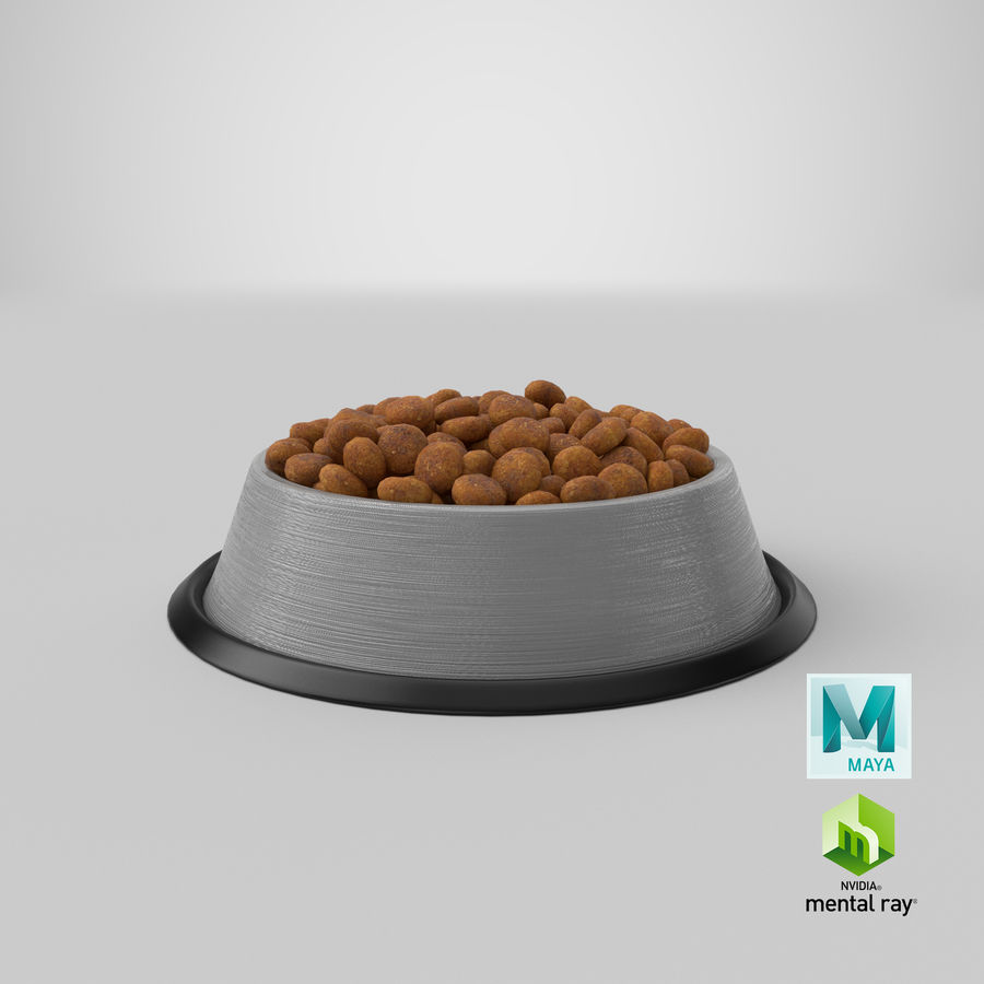 Bowl of Dog Food royalty-free 3d model - Preview no. 25