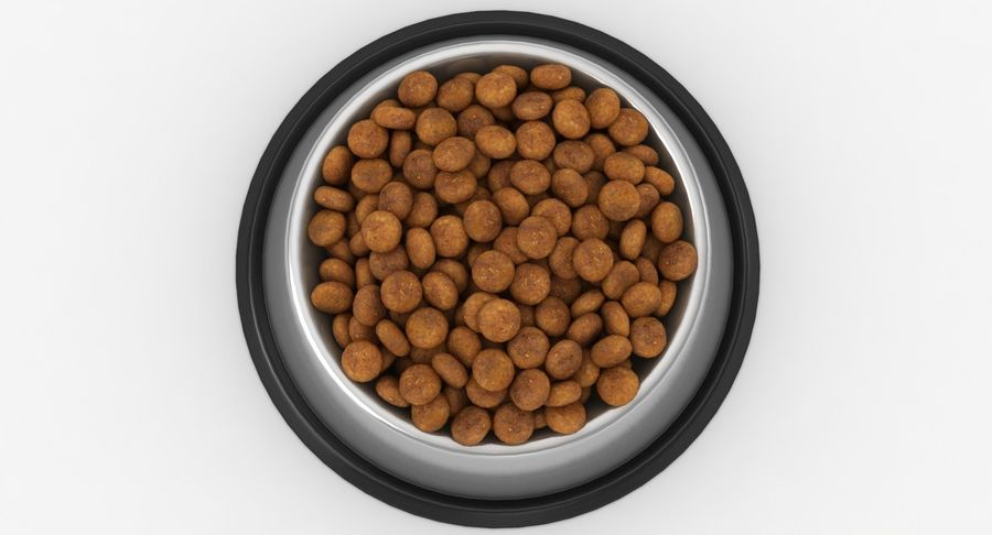 Bowl of Dog Food royalty-free 3d model - Preview no. 14