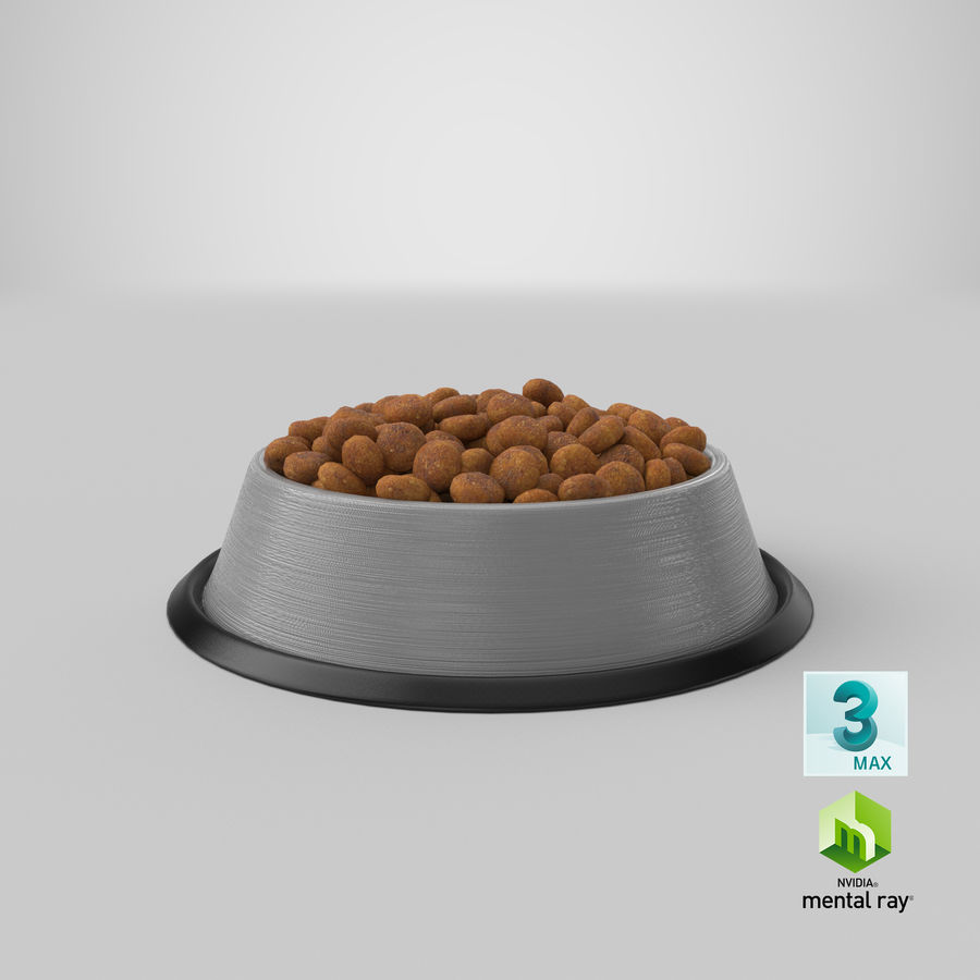 Bowl of Dog Food royalty-free 3d model - Preview no. 27