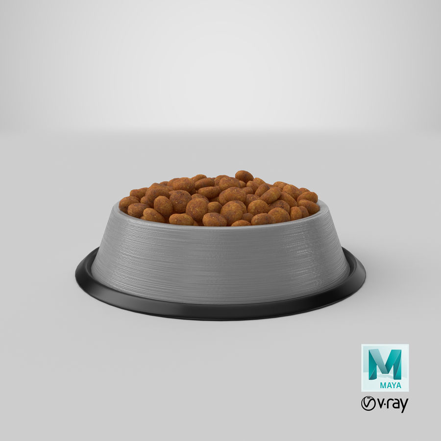 Bowl of Dog Food royalty-free 3d model - Preview no. 24