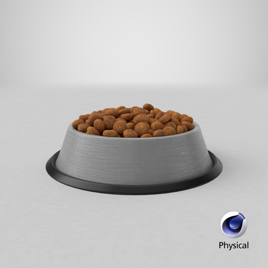 Bowl of Dog Food royalty-free 3d model - Preview no. 28