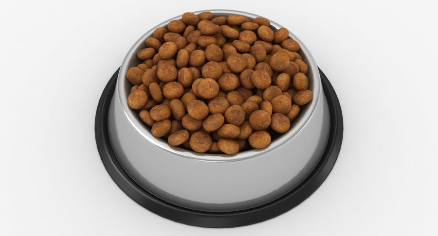 Bowl of Dog Food royalty-free 3d model - Preview no. 7