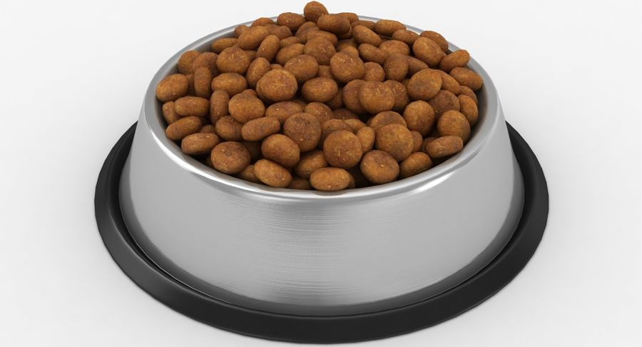 Bowl of Dog Food royalty-free 3d model - Preview no. 9