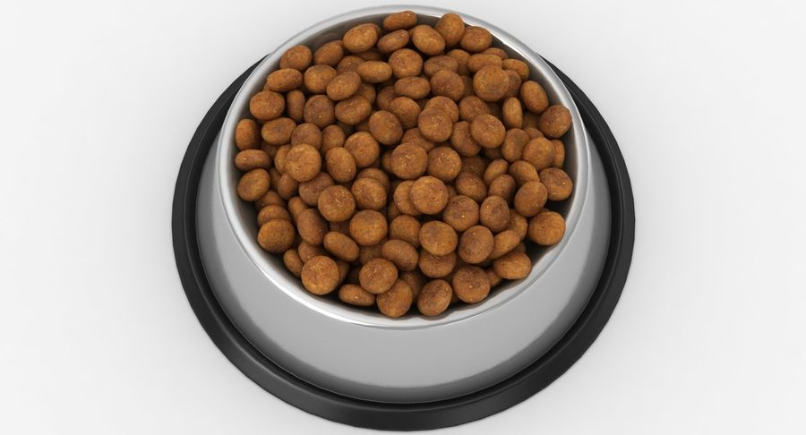 Bowl of Dog Food royalty-free 3d model - Preview no. 10