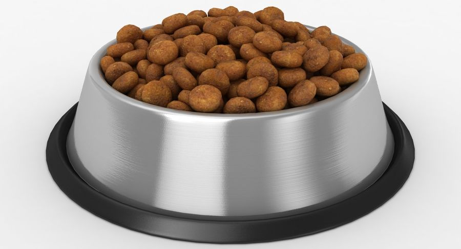 Bowl of Dog Food royalty-free 3d model - Preview no. 3