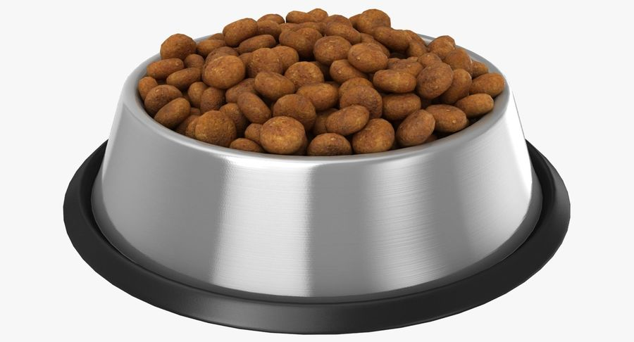 Bowl of Dog Food royalty-free 3d model - Preview no. 2