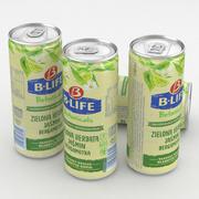 Beverage Can B-Life Botanicals Green Tea Jasmine 330ml 3d model