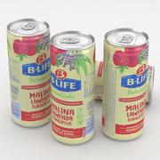 Beverage Can B-Life Botanicals Raspberry Lavender 330ml 3d model