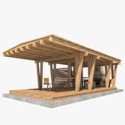 花园凉亭扩展 3d model