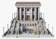 古典的なギリシャの寺院 3d model