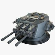 Torretta cinetica di fantascienza Mk 3 3d model