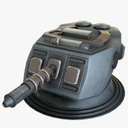 Torretta laser di fantascienza Mk 1 3d model