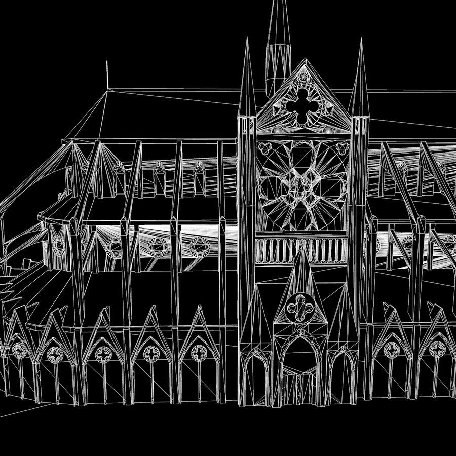 Notre Dame De Paris do druku 3D royalty-free 3d model - Preview no. 13