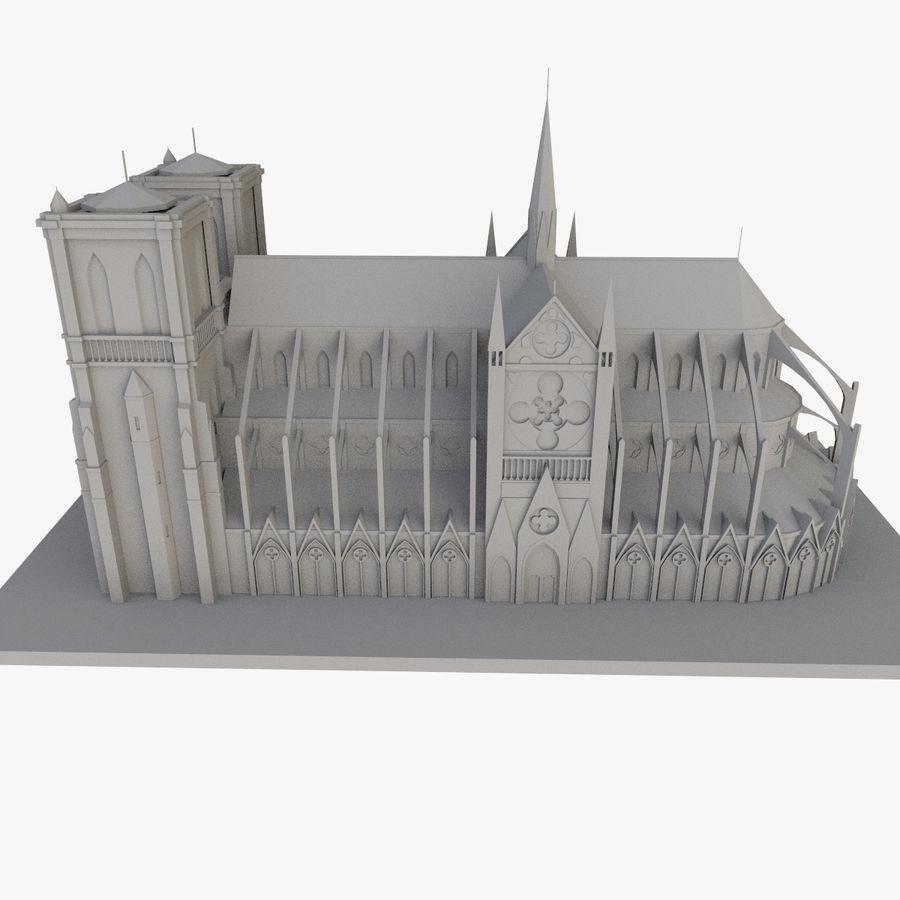 Notre Dame De Paris do druku 3D royalty-free 3d model - Preview no. 4