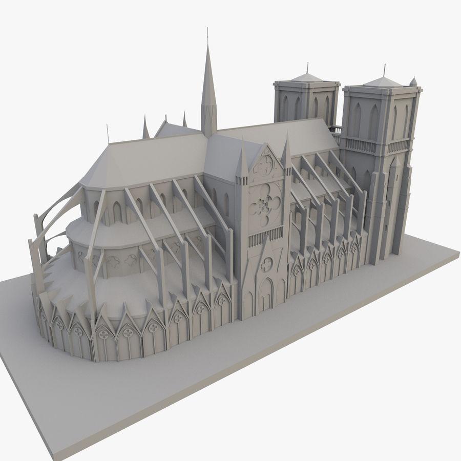 Notre Dame De Paris 3D-afdrukbaar royalty-free 3d model - Preview no. 1