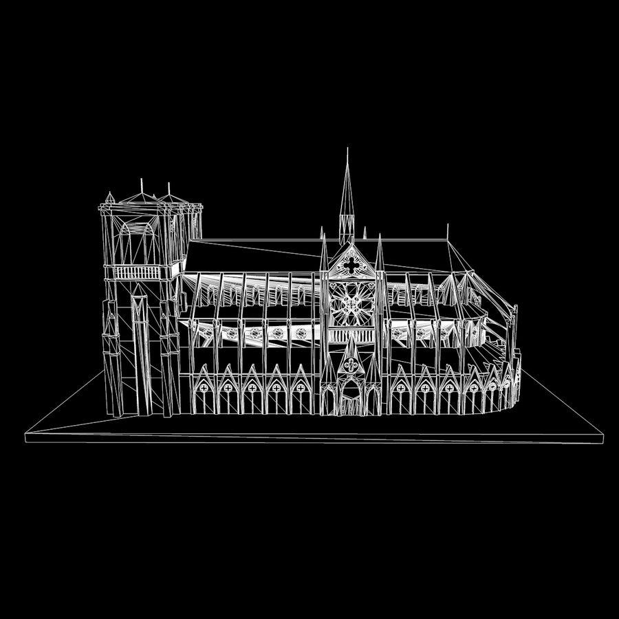 Notre Dame De Paris do druku 3D royalty-free 3d model - Preview no. 10
