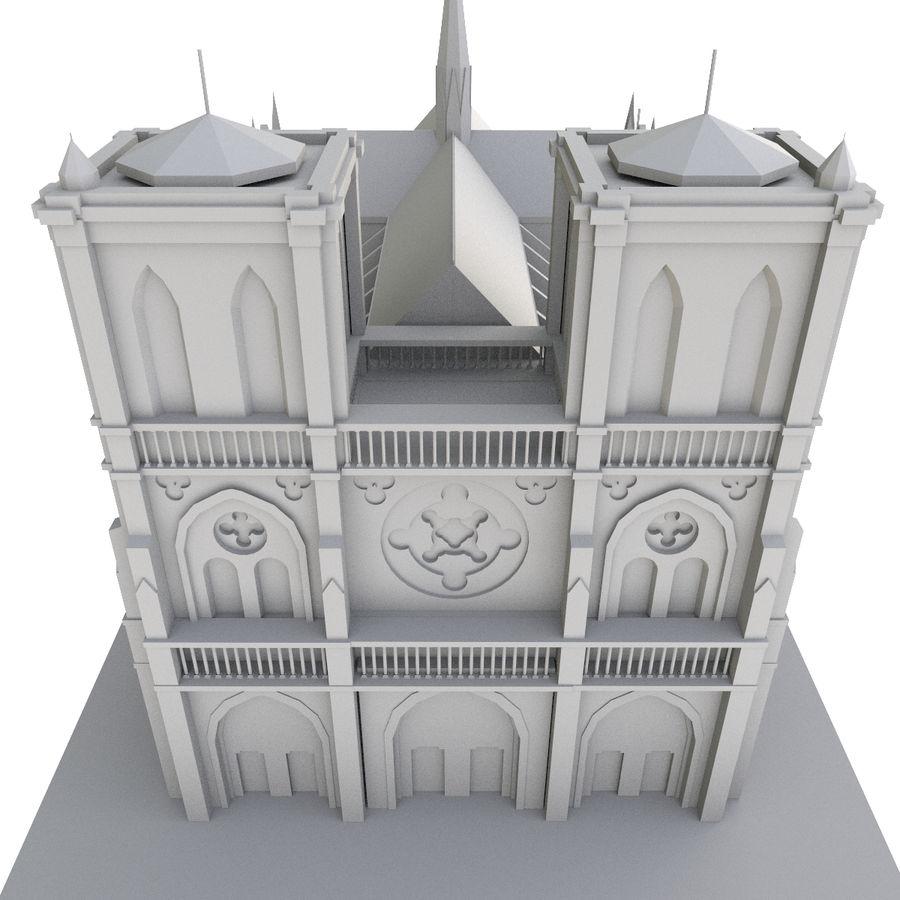 Notre Dame De Paris do druku 3D royalty-free 3d model - Preview no. 7
