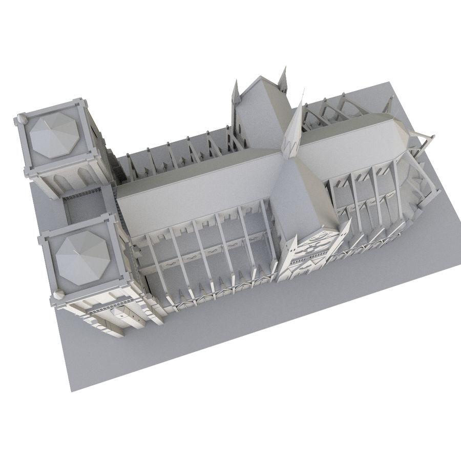 Notre Dame De Paris do druku 3D royalty-free 3d model - Preview no. 9