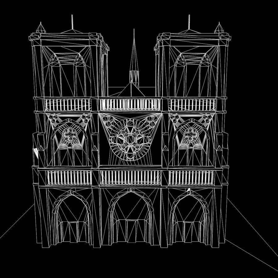 Notre Dame De Paris do druku 3D royalty-free 3d model - Preview no. 12