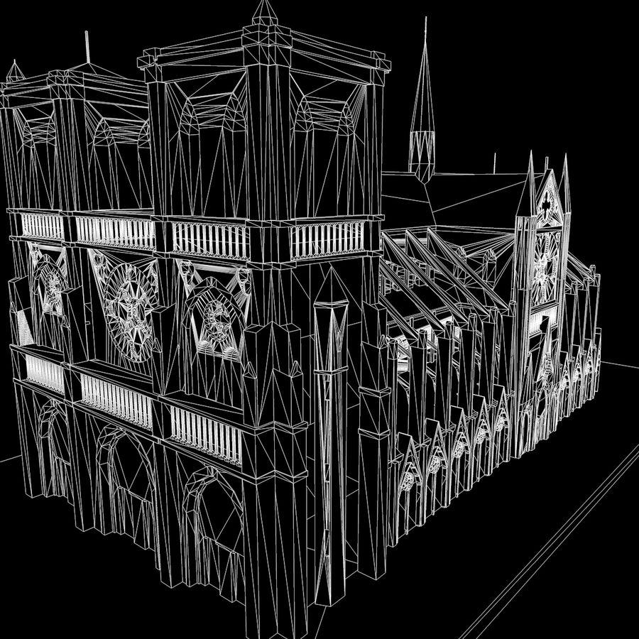 Notre Dame De Paris do druku 3D royalty-free 3d model - Preview no. 11