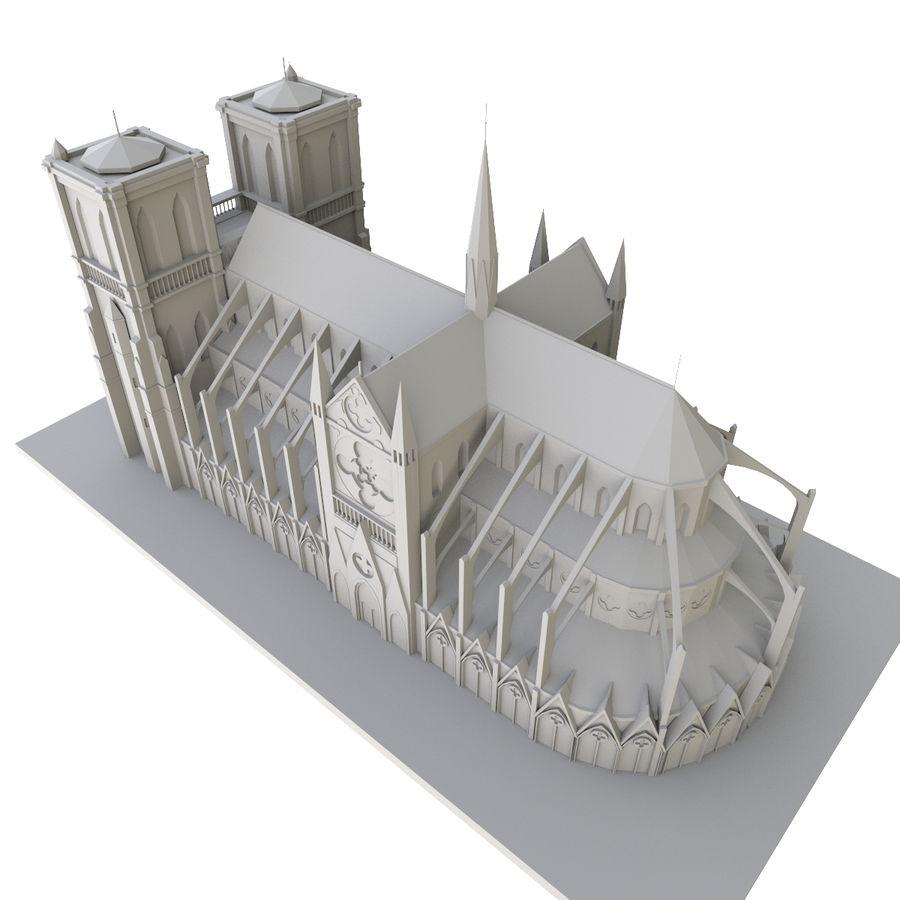 Notre Dame De Paris 3D-afdrukbaar royalty-free 3d model - Preview no. 8